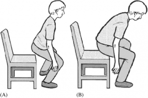 sit to stand with disc herniation